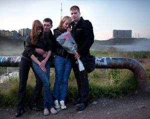 "Double Date, 2:00 AM. Murmansk, Russia, 2011. From the series ""City of Night, City of Day"" © Nadia Sablin"