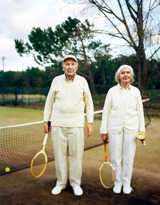 My grand parents at a local tennis competition.