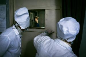 Prisoner Boris, 1983. Diagnosis: TB. Zhdanovka penal colony #3, Donbass,  February 2011.