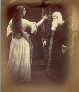 Julia Margaret Cameron (1815-1879). Vivien and Merlin. © Musée d'Orsay, Dist. RMN-Grand Palais / Patrice Schmidt