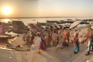 The morning rush on Ganges at Varanasi.
