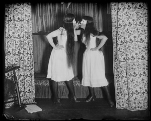 Alice Austen (1866-1952). Trude and I masked, short skirts, 1891. © Courtesy of Historic Richmond Town, Staten Island, New York