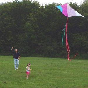 Me and Ruby take a break and fly a kite