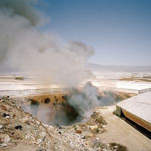 Fire in an illegal dump. La Mojonera, Almería. © Reinaldo Loureiro