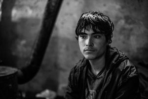 15 years old Shaw Khane from Afghanistan. From 6 months he lives in the makeshift shelter near the main train station in Belgrade, Serbia.