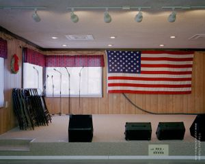 American Flag on Stage, from the series, Transience © Stephen Chalmers