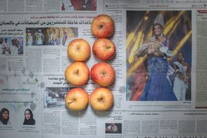 Apples. Dubai, UAE. September 2014. 11.08  Emirati Dirham (3.02 usd, 2.30 euros)