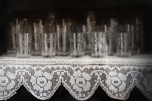 Kitchen. Aunt Sara's liqueur glasses.