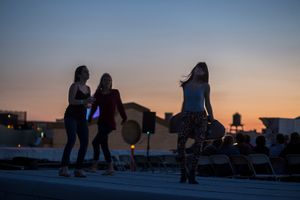 Dancing the night away on the rooftop