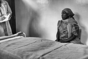 When logistically possible our only female physician examined the female patients.                                        © Lola Reid Allin