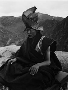 © ZHUANG Xueben (1909-1984), Tibetan Buddhist Monk, Living in Heaven and giving Light to the Soul, Yu Shu County, Qing Hai Province, 1937Courtesy of ZHUANG Wenjun