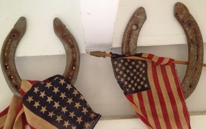 childhood parade flags and horseshoes