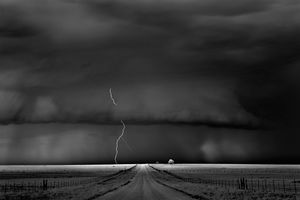 Road, Near Guymon, Oklahoma, 2009, © Mitch Dobrowner