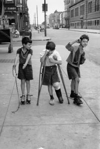 "Three boys. From ""One, Two, Three, More"" by Helen Levitt. Published by powerHouse Books. Photo credit: Helen Levitt © Film Documents LLC"