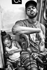 Exhausted NYC - Families (B&W) 3