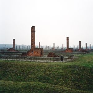 Ruins of Prisoners' Barracks, Auschwitz-Birkenau Memorial and Museum