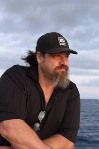 Handsome husband on a boat
