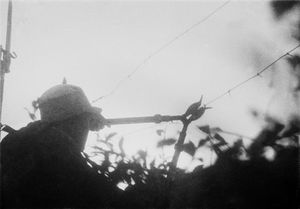 © SHA Fei (1912-1950), The Front - Training exercises in cutting barbed wire, 1943Courtesy of WANG Yan