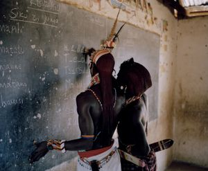 warrior school # II, ewaso lions, westgate community conservancy, northern kenya-from the series 'with butterflies and warriors'-David Chancellor-