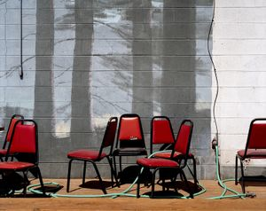 Red Chairs, Bliss Idaho © Alexis Pike