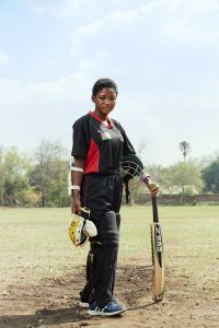 Shahida, captain, Malawian Under 19 Women's Cricket Team, Blantyre, Malawi, 2016.