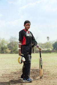 Shahida, captain, Malawian Under 19 Women's Cricket Team, Blantyre, Malawi, 2016.