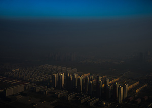 A city in northern China shrouded in haze, Tianjin, China, 10 December 2015.
