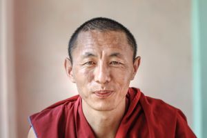 Lo Sang, a tibetan monk and refugee in exile.