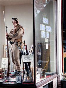 Sam Harrelson in a storefront on Caroline Street, Fredericksburg, VA, 2010.