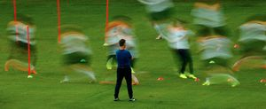 The Holland national team training in Rio de Janeiro before the 2014 World Cup. © Daniel Marenco