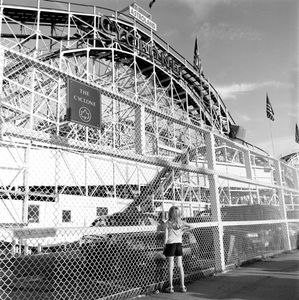 "The Cyclone (Gazing Girl). Coney Island, Brooklyn, NY. From the series ""Childhood Reveries""  © Brian Shumway"