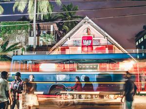 The dawn of 'Achche Din'. Trivandrum, KL, 2014.