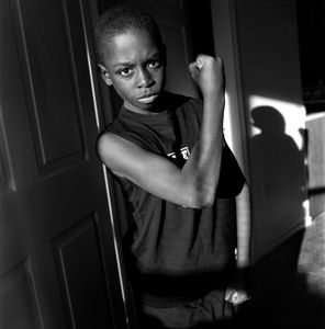 "Muscle Man. Tyler, TX. From the series ""Childhood Reveries""  © Brian Shumway"