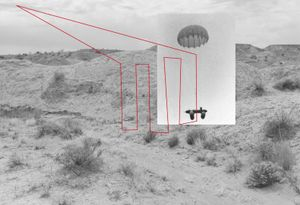 The video feed captured from drones is presented via a visual interface to the pilots as a series of small images that form one large moving picture. Such photomosiacs were widely used to map the trenches during WWI, for example.