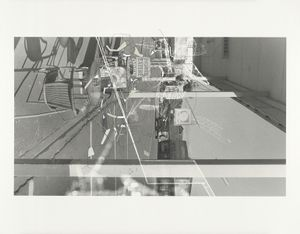 """""""Traceryscape - NZ235"""", painting on gelatin-silver print, 50x61cm, from the series Traceryscape © Aki Lumi"""