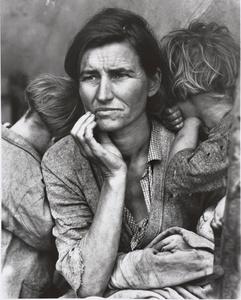 Dorothea Lange (1895-1965). Human Erosion in California (Migrant mother). © Münchner Stadtmuseum, Sammlung Fotografie, Dorothea Lange Collection, Oakland Museum, Oakland, USA