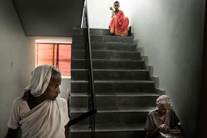 Vrindavan, India, 2009 - The residence shelters women of every age. © Massimiliano Clausi/POSSE Photographers