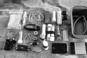 Dallas, Texas, 2010. Harold Rosenbaum's three day survivalist kit. © Spike Johnson