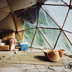 Inside a geodesic dome, Sierra del Hacho, Spain, 2013 © Antoine Bruy