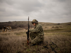 Frontline of Debaltsavo.
