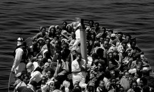 Mediterranean Sea (2015). First contact.