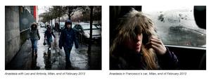 Anastasia with Leo and Antonia, Milan, end of February 2013/Anastasia in Francesco's car, Milan, end of February 2013