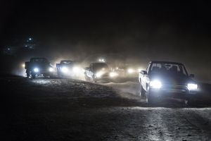 The fuel vehicles return to Iran at night.