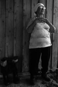 An old woman. Parabel. Tomsk region. Russia. 2008.