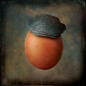 Portrait of an Egg in Harris Tweed Cap