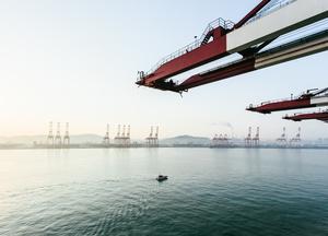 Cranes, Qingdao Port