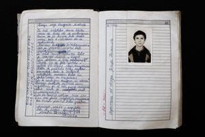 A schoolfriend of Midheta Delki? wrote some lines in her friendship book before they graduated from middle-school. Ten years later Josufa Zenkovi?a was killed during the ethnic cleansing campaign around Prijedor by serb forces.  © Ole Elfenkämper
