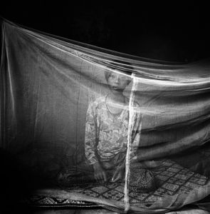 Nahn, an HIV-positive former sex worker from Thailand. Phnom Penn Cambodia 1998 © Paolo Pellegrin
