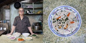 Carmen Alora, 70 years old, El Nido, Philippines. Kinunot (shark in coconut soup) © Gabriele Galimberti
