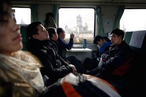 Commuters between Xingtai and Beijing pass by the hundreds of factories that make Hebei province China's worst for air pollution.  ©Souvid Datta